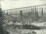 Chattanooga Railroad on Falling Water Bridge Metal Print