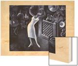 Rhapsody in Blue Wood Print by Miguel Covarrubias