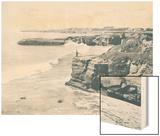The Cliffs Near Santa Cruz 1915 Wood Print