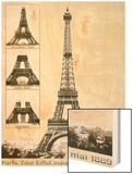 Tour Eiffel Inauguration 1889 Wood Print
