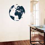 Mappemonde Wall Decal