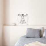 Proportions du corps (Da Vinci) Wall Decal