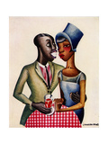 Miguel Covarrubias - At Leroy's - Poster
