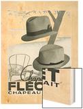 Chapeau Flechet Parfait Wood Print