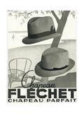 Chapeau Flechet Parfait Metal Print