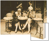 Terasse De Cafe 1924 Wood Print
