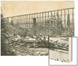 Chattanooga Railroad on Falling Water Bridge Wood Print