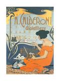 Calderoni Gioielliere 1898 Metal Print by Adolfo Hohenstein