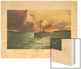 Sunset on the Columbia No. 54 Wood Print