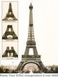 Tour Eiffel Inauguration 1889 Stretched Canvas Print