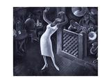 Rhapsody in Blue Metal Print by Miguel Covarrubias