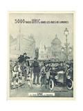 Le Taxi UNIC Est Inusable 1927 Metal Print