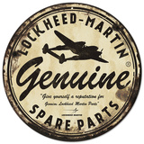 Lockheed Martin Genuine Spare Parts Steel Sign Wall Sign