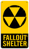 Fallout Shelter Steel Sign Wall Sign