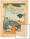 Calderoni Gioielliere 1898 Wood Print by Adolfo Hohenstein