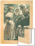 La Robe et la Douleur Wood Print by F. Bac