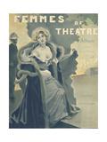 Femmes de Theatre Cover Photoshop'd Metal Print by F. Bac