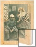 L'Assurance Contre L'Incendie Wood Print by F. Bac