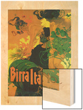 Birra Italia Milano Wood Print by Adolfo Hohenstein