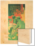 Bitter Campari Milano Wood Print by Adolfo Hohenstein