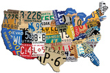 USA License Plate Steel Sign Wall Sign
