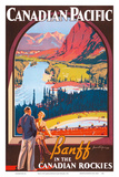 Banff in the Canadian Rockies - Lake Louise, Banff National Park - Canadian Pacific Railway Company Posters af James Crockart
