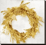 Golden Wreath II Stretched Canvas Print by Kate Carrigan
