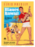 Elvis Presley in Blaues (Blue) Hawaii Print by Rolf Goetze