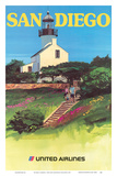 San Diego, California - Old Point Loma Lighthouse Posters by Tom Hoyne