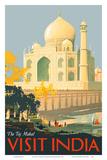 Visit India - Taj Mahal - Agra, India Prints by William Spencer Bagdatopulos