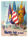 New York World's Fair of 1940 - For Peace and Freedom Plakater af  Pacifica Island Art