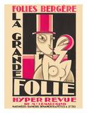 Folies Bergere - La Grande Folie - Hyper Revue de (of) Mr. Lemarchand Giclee-vedos tekijänä Maurice Picaud