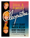 Cecil B. DeMille's Cleopatra - Starring Claudette Colbert, Warren William, and Henry Wilcoxon Giclée-tryk af Pacifica Island Art