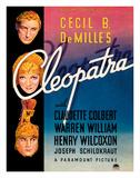Cecil B. DeMille's Cleopatra - Starring Claudette Colbert, Warren William, and Henry Wilcoxon Lámina giclée por Pacifica Island Art