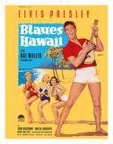 Elvis Presley in Blaues (Blue) Hawaii Lámina giclée por Rolf Goetze