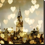 I Love NY I Stretched Canvas Print by Annie Campbell