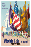 New York World's Fair of 1940 - For Peace and Freedom Poster af  Pacifica Island Art
