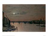 London Bridge Giclee Print by John Atkinson Grimshaw