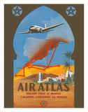 Air Atlas - Services All of Morocco, Algeria, Spain, France Giclée-tryk af RENLUC