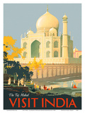 Visit India - Taj Mahal - Agra, India Poster by William Spencer Bagdatopulos