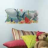 Finding Dory and Friends Peel and Stick Giant Wall Graphic Veggoverføringsbilde