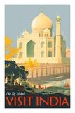 Visit India - Taj Mahal - Agra, India Giclee-tryk i høj kvalitet af William Spencer Bagdatopulos