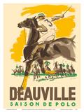 Deauville Saison De Polo (Polo Season) - Normandy, France Poster af Michel Jacquot