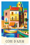 Visit Cote D'Azur - France - The French Riviera Posters by Jacques Nathan-Garamond