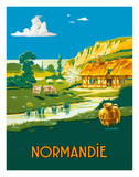 Normandie (Normandy) France - L'ete . . . L'état (Summer is here) - French State Railways Giclée-tryk af Lucien Baubaut