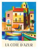 Visitez (Visit) La Cote D'Azur - France - French Riviera Giclée-tryk af Jacques Nathan-Garamond