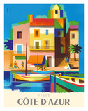 Visit Cote D'Azur - France - The French Riviera Giclée-tryk af Jacques Nathan-Garamond
