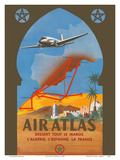 Air Atlas - Services All of Morocco, Algeria, Spain, France Poster by  RENLUC