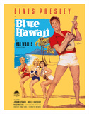 Elvis Presley in Blue Hawaii Lámina giclée por Rolf Goetze