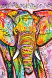 Dean Russo- Elephant Poster van Dean Russo
